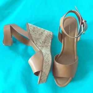 Tommy Hilfiger wedge cork heels size 8